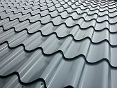 istock Low angle view across galvanized roof panels 171555585