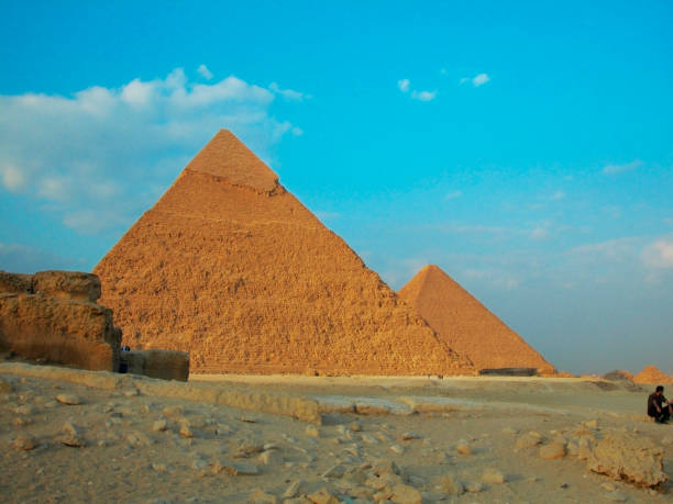 Low angle view of a pyramids, Giza Pyramids, Giza, Cairo, Egypt - stock photo Low angle view of a pyramids, Giza Pyramids, Giza, Cairo, Egypt - stock photo zoom effect stock pictures, royalty-free photos & images