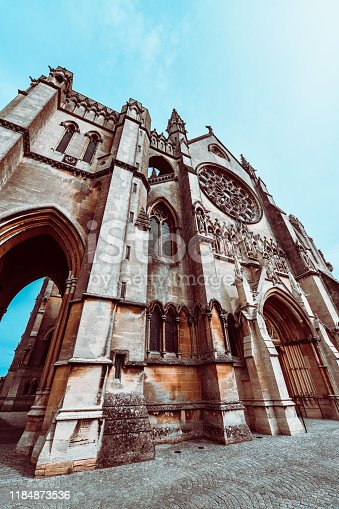 Low Angle View Of Arundel Cathedral In Arundel, United Kingdom