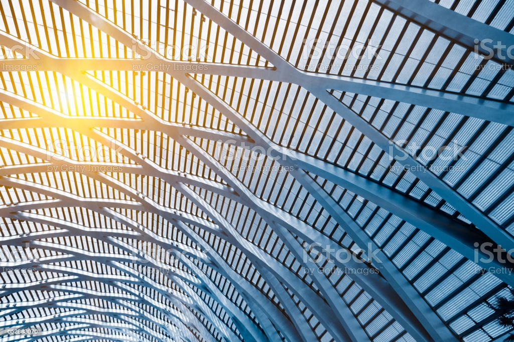 Low angle view of building ceiling royalty-free stock photo