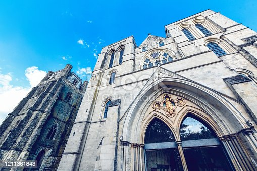 Low Angle View Of Chichester Cathedral Entrance