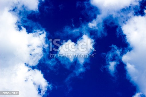 istock Low angle view of cloudy sky 535527398