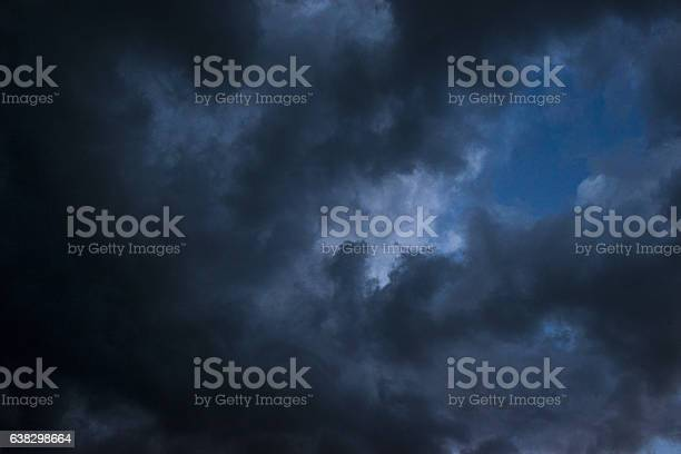 Photo of Low angle view of dark clouds on the sky