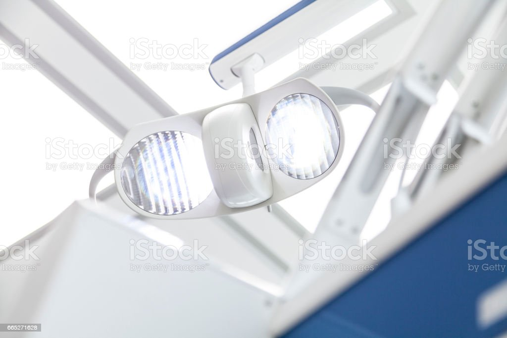 Low Angle View Of Dental Lamp stock photo
