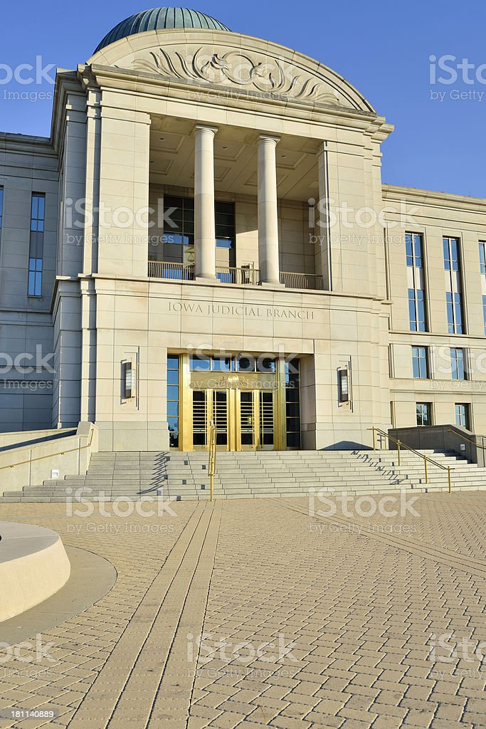 Low angle view of Iowa Supreme Court royalty-free stock photo