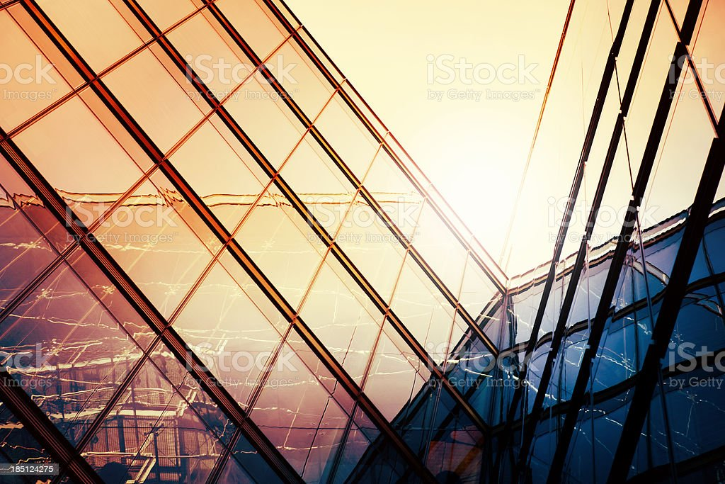 Low angle view of modern corporate building royalty-free stock photo