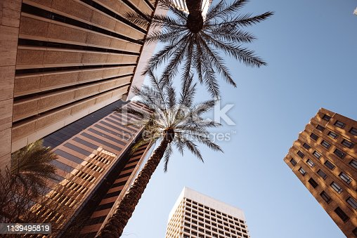 low angle view of Phoenix downtown