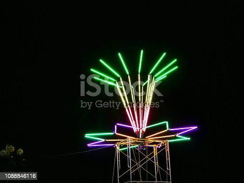 1029436214 istock photo Low Angle View of Pink Fluorescent Lamps for Festival Decoration 1088846116