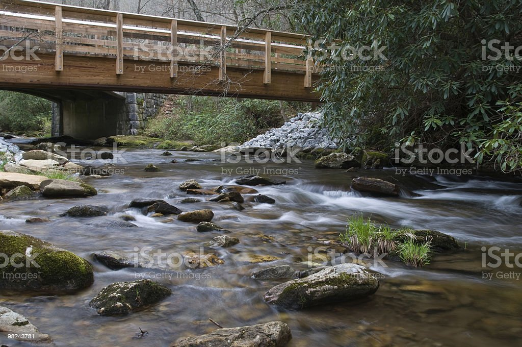 Low angle view of rocky stream royalty-free stock photo