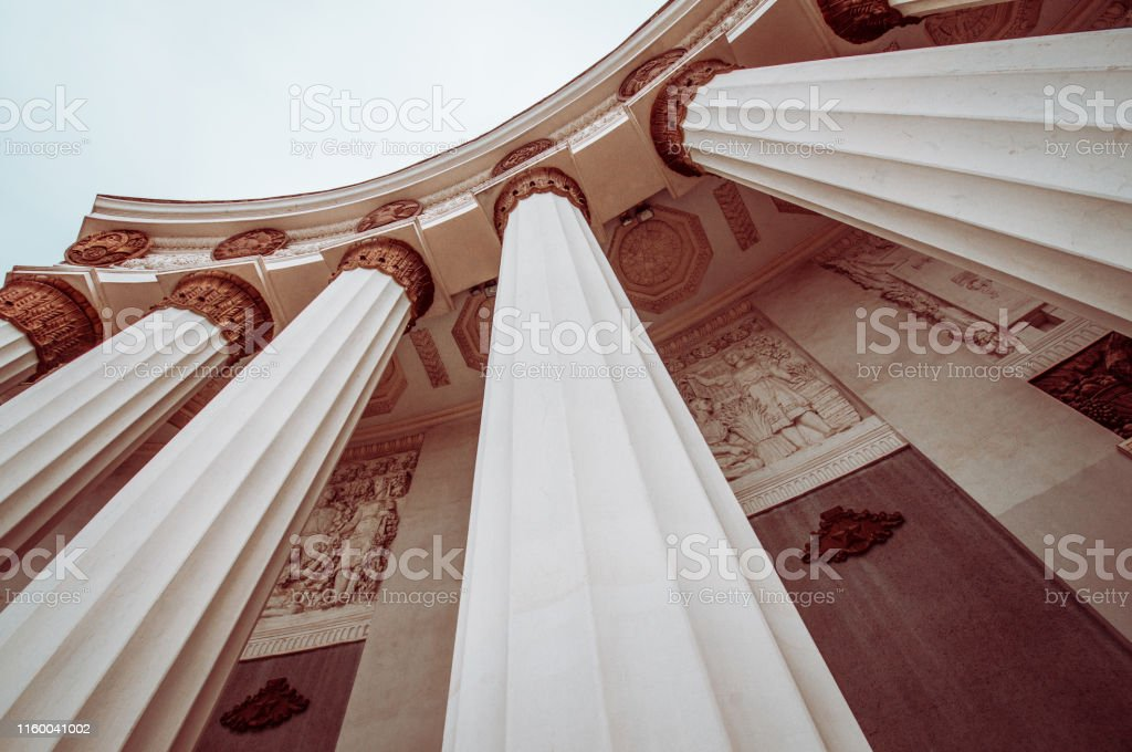 Low Angle View Of Roman Style Architectural Columns