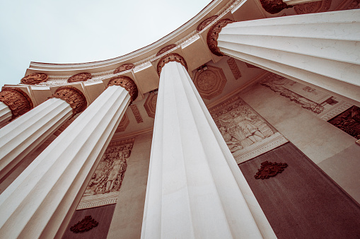 istock Low Angle View Of Roman Style Architectural Columns 1160041002