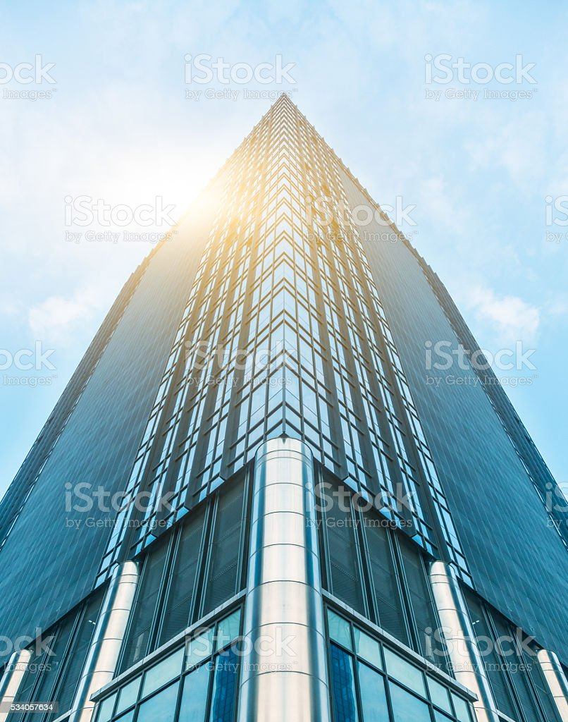 low angle view of skyscraper in shanghai stock photo