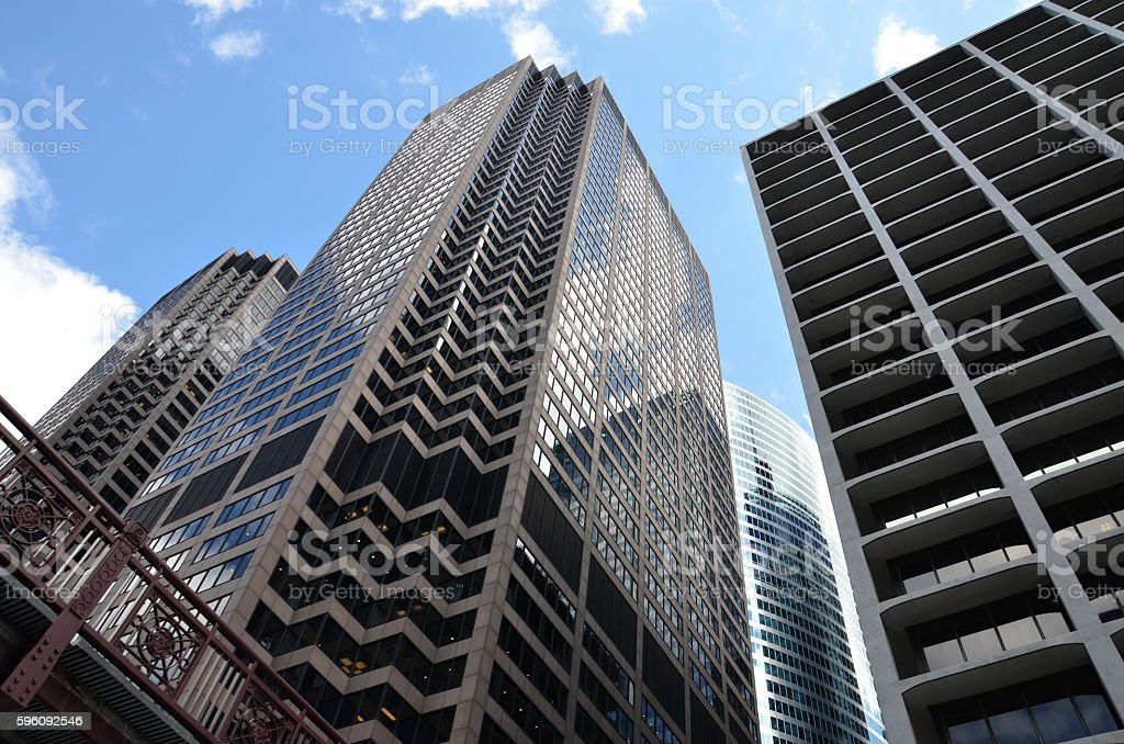 Low Angle View of skyscrapers in Chicago, Illinois, USA Lizenzfreies stock-foto
