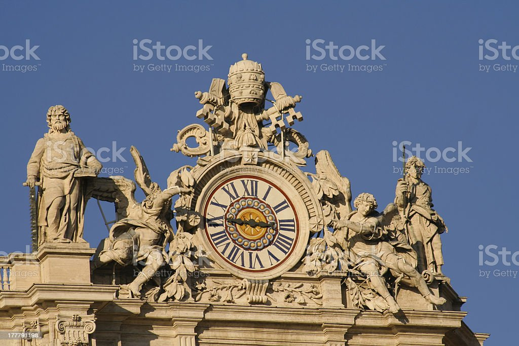 Low angle view of statues royalty-free stock photo