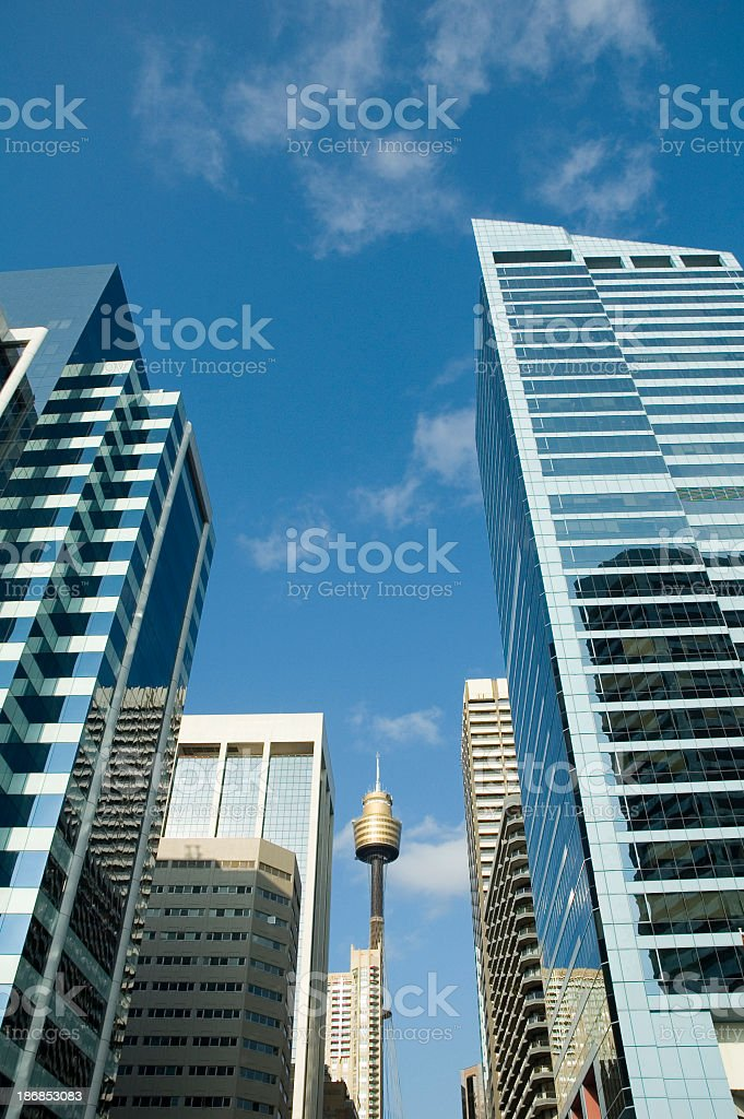 Low angle view of Sydney high rises in business district royalty-free stock photo