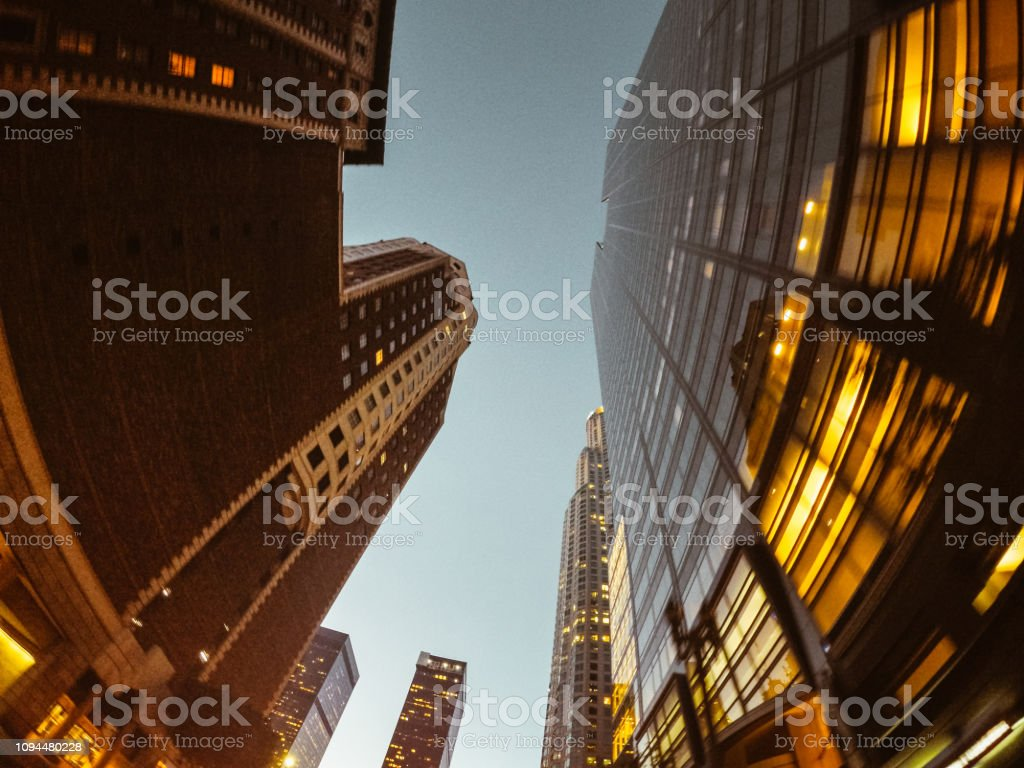 low angle view of the los angeles downtown