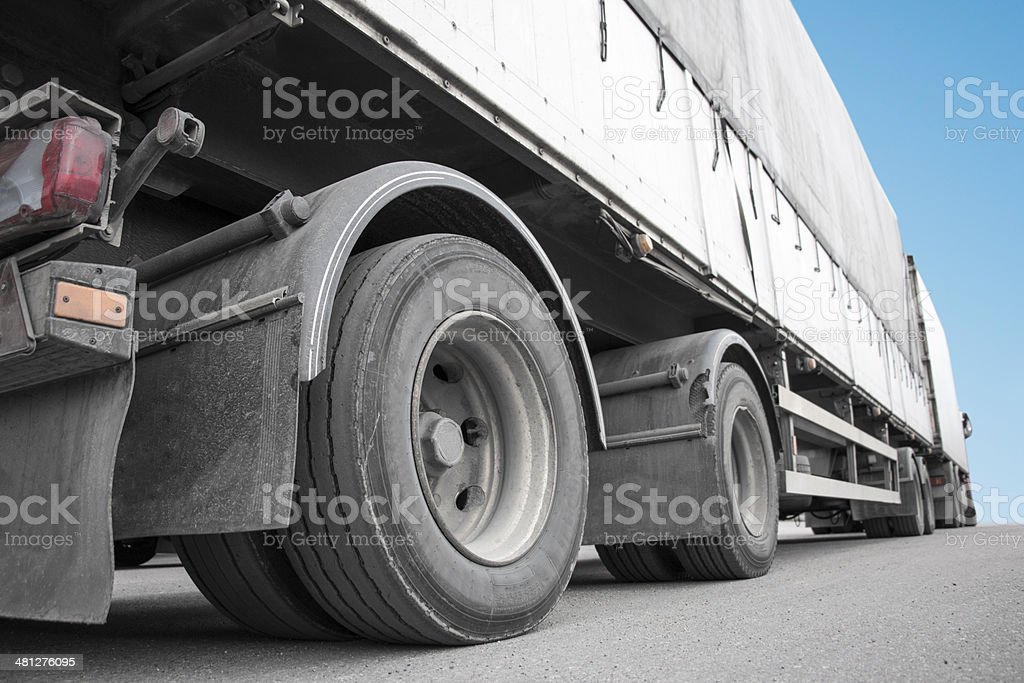 Low angle view of truck stock photo