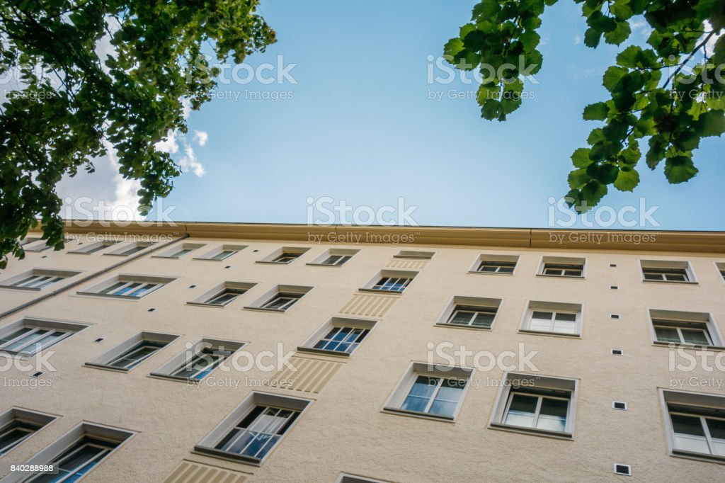low angle view of typical house in the heart of berlin stock photo