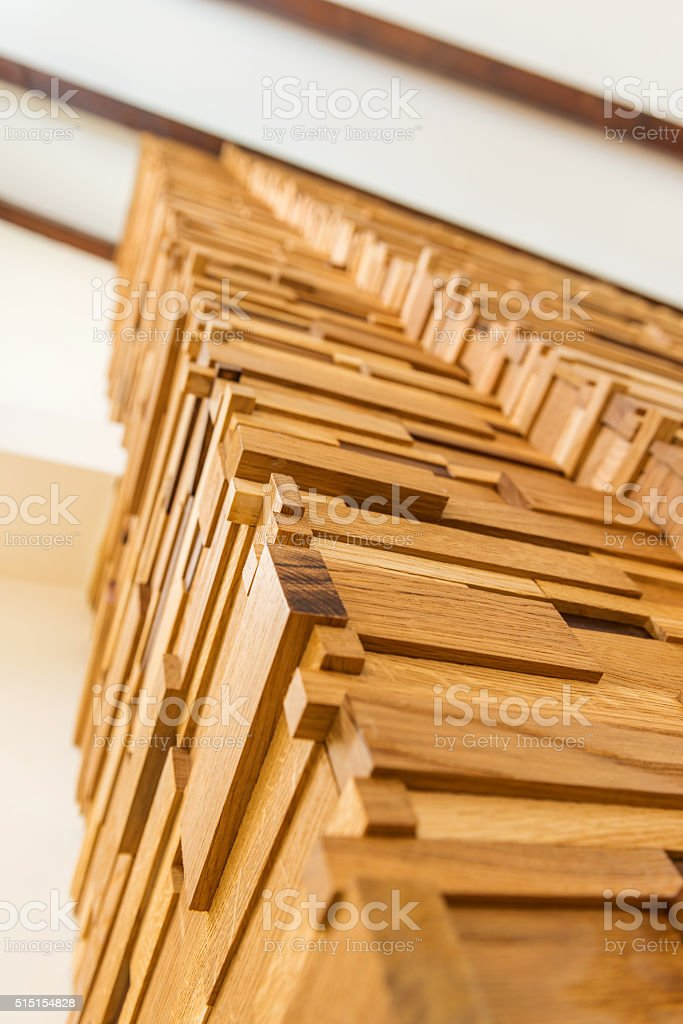 Low Angle View Of Wooden Column Home Decoration Stock Photo More