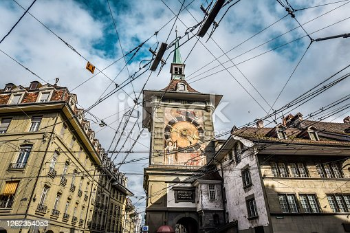 Low Angle View Of Zytglogge Tower In Bern, Switzerland