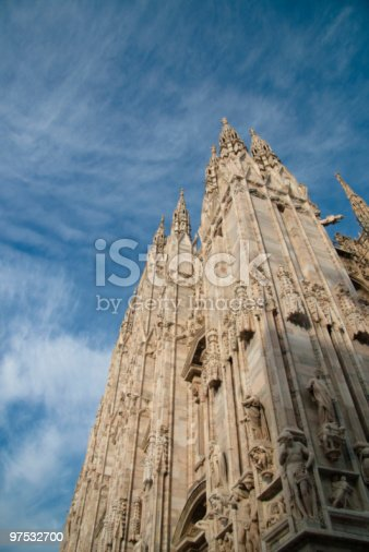 Low Angle View To Doumo Of Milan Stock Photo & More Pictures of Arch - Architectural Feature