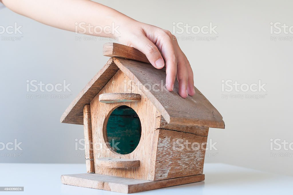 Low budget house concept. stock photo