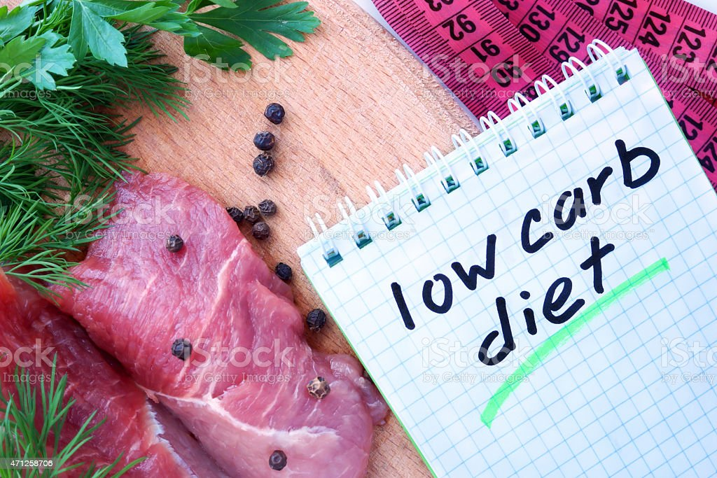 low carb diet stock photo
