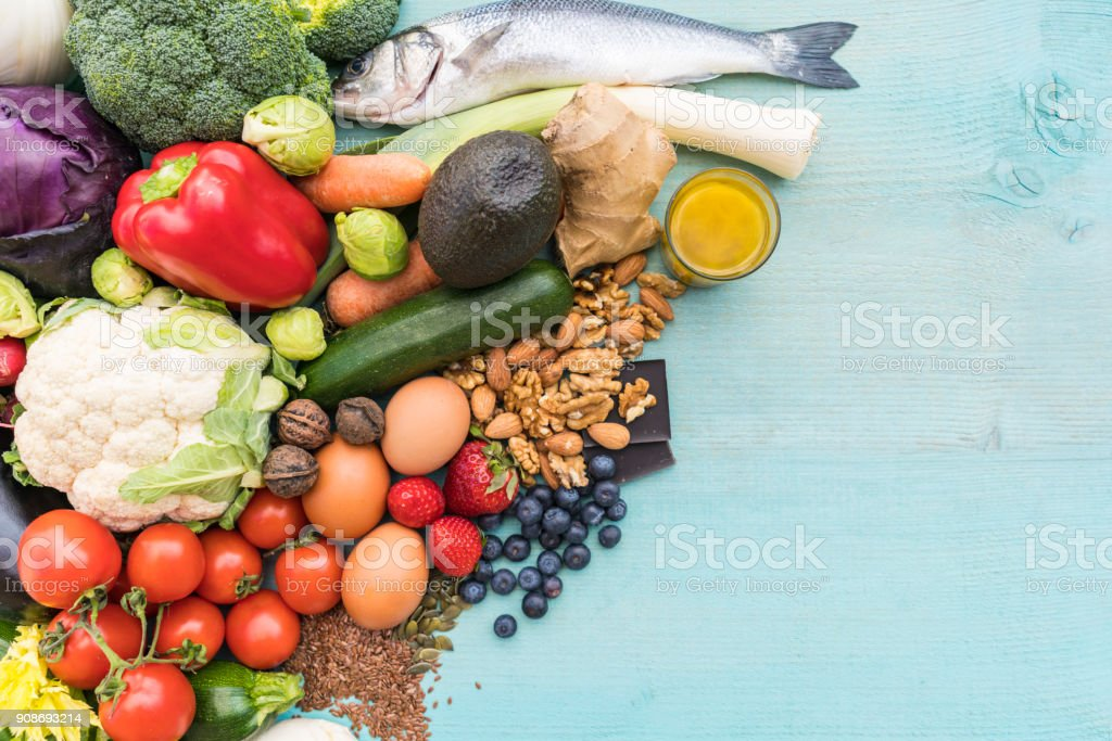 Low carb food stock photo