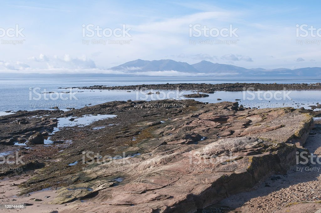 Low cloud on Arran royalty-free stock photo