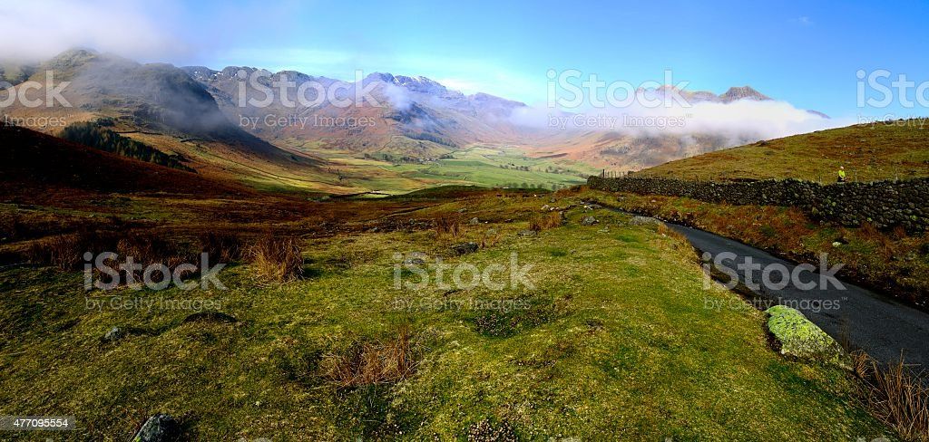 Low Clouds and the Fells stock photo