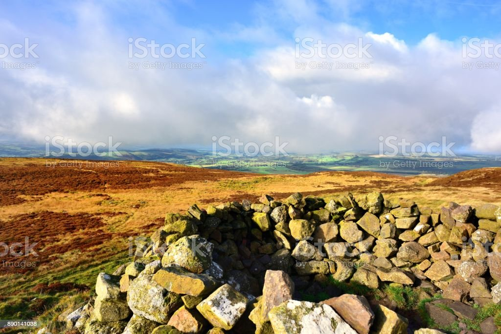 Low Clouds over the Solway Firth stock photo
