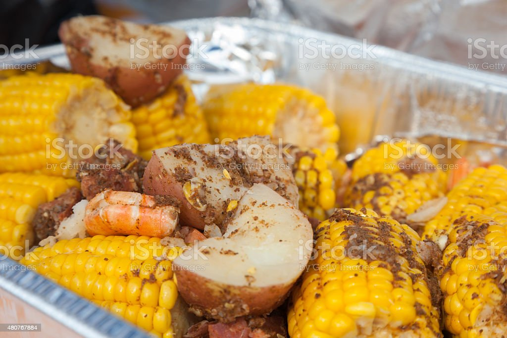 Low Country Boil stock photo
