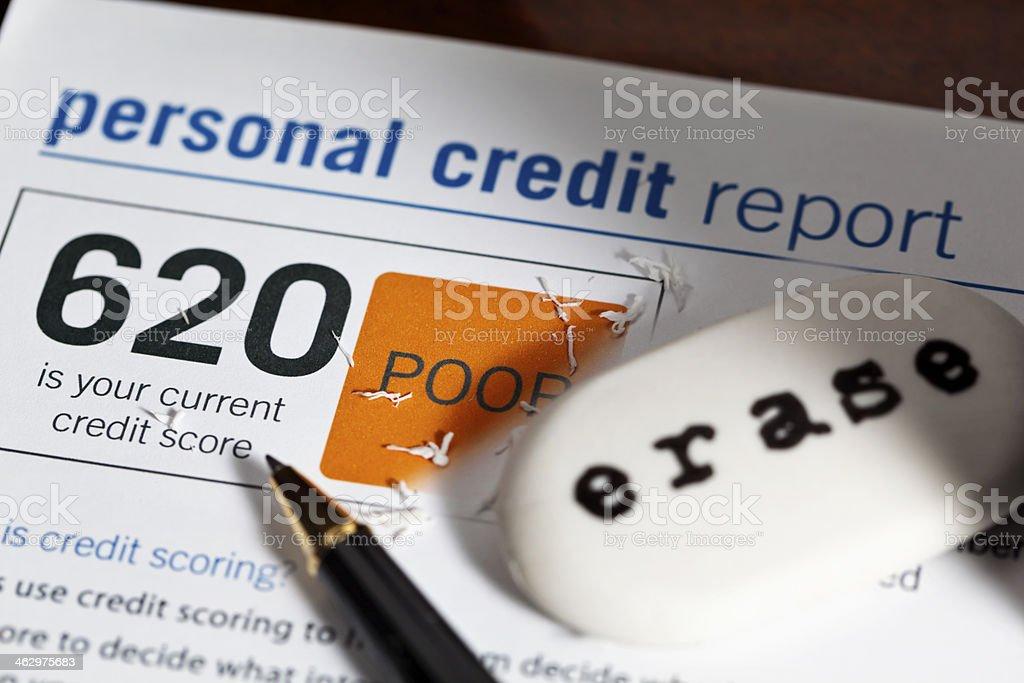 Low Credit Score stock photo