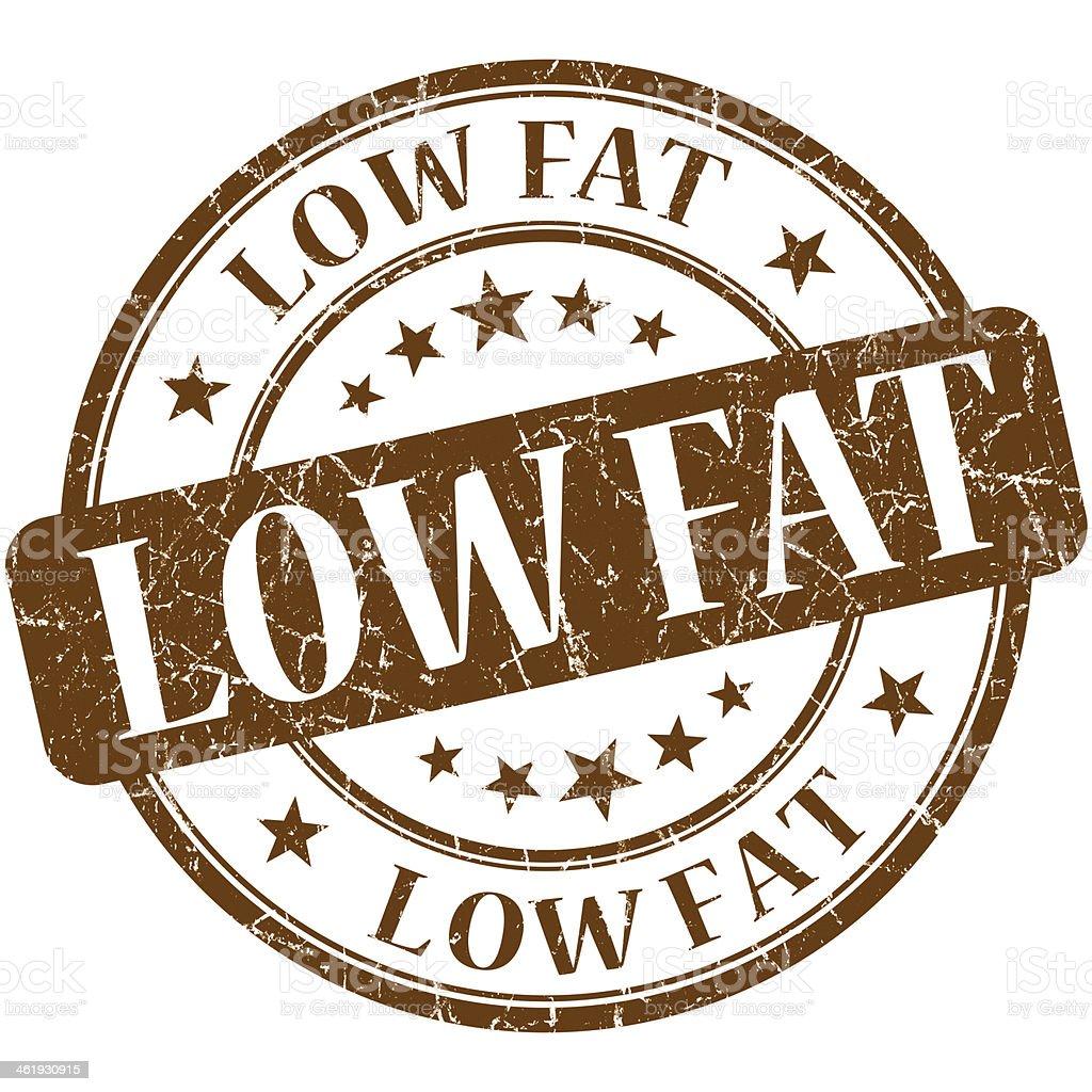 Low fat grunge brown round stamp royalty-free stock photo