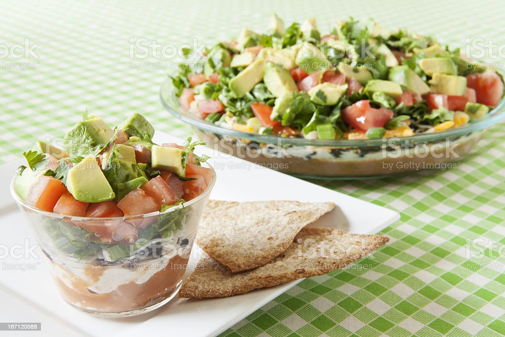 Low Fat Mexican Layered Dip stock photo