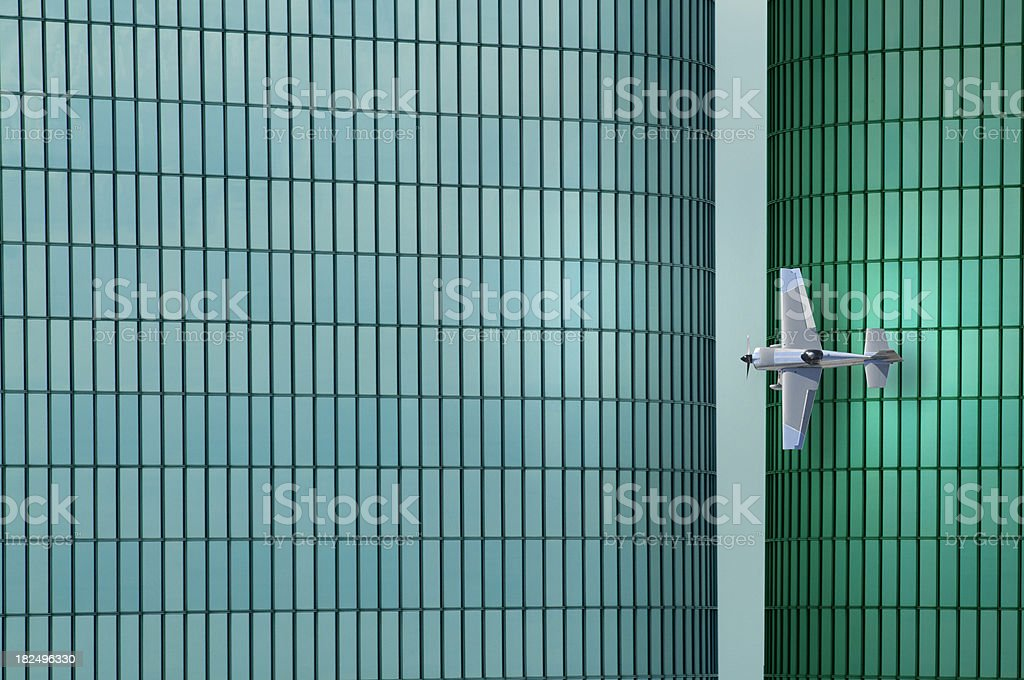 Low Flying Airplane royalty-free stock photo