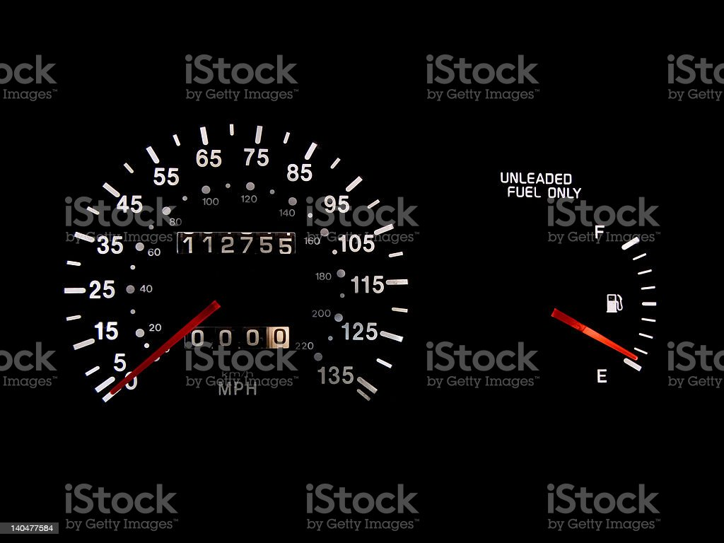 Low Gas royalty-free stock photo