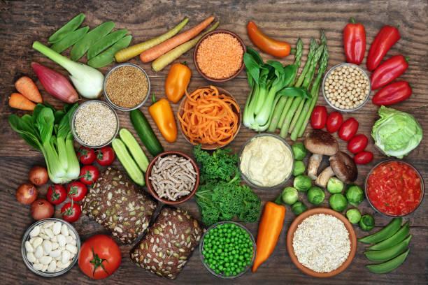 Low GI Diet Food for Diabetics stock photo