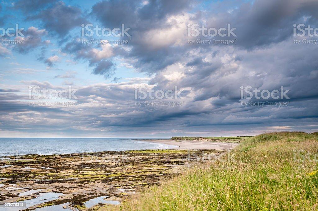 Low Hauxley Beach stock photo