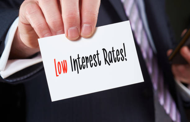 low interest rates concept - interest rate stock photos and pictures