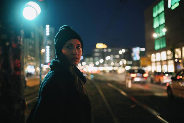 Low key Berlin portrait stock photo