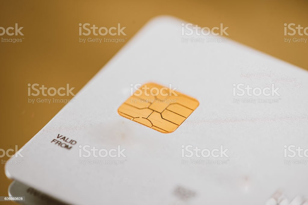 Low key macro shot with credit card stock photo