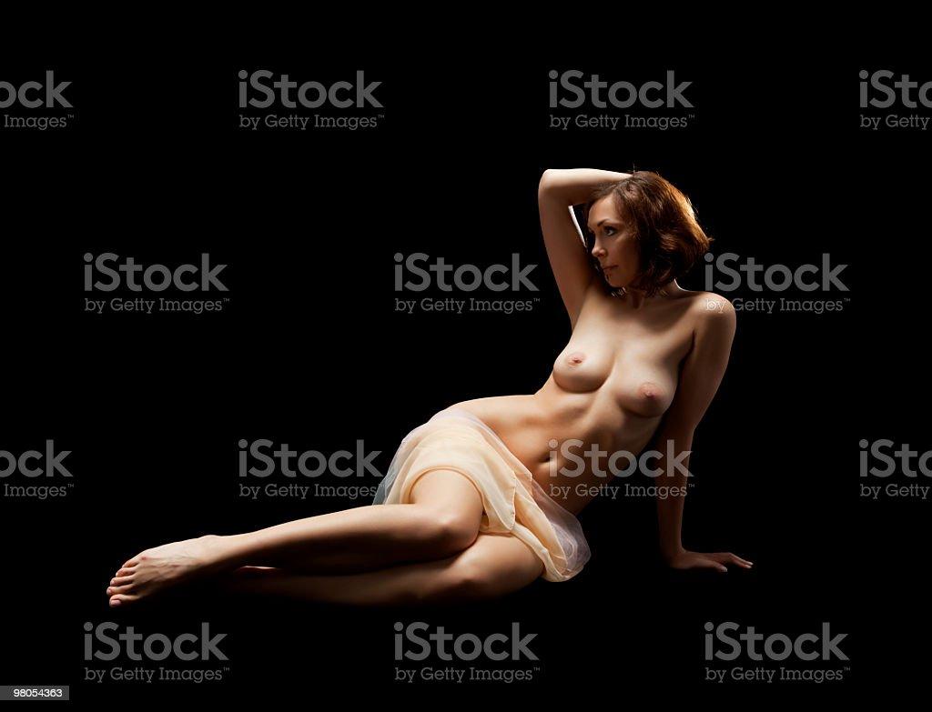 low key photo of sexy woman body royalty-free stock photo