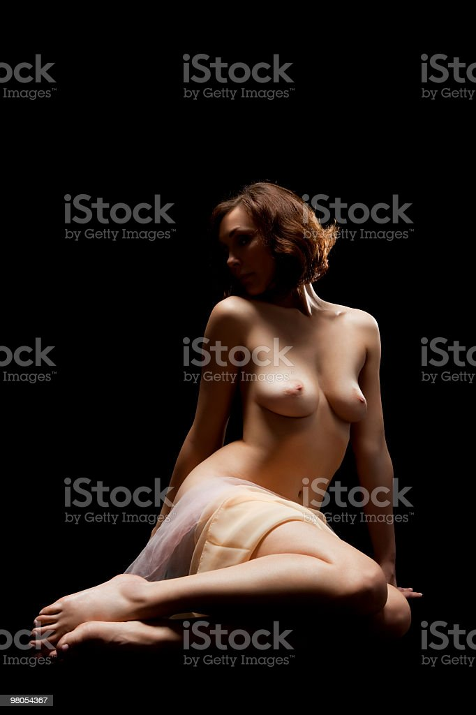 low key photo of sexy woman body royalty-free stock photo