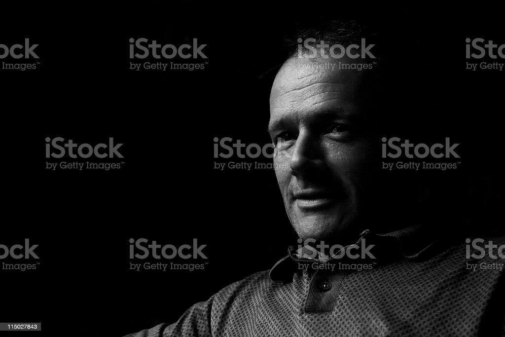 Low Key Portrait of a Man stock photo