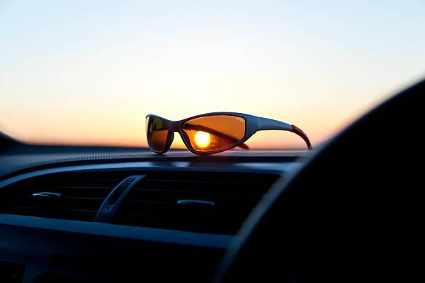 Low Key Sunset stock photo