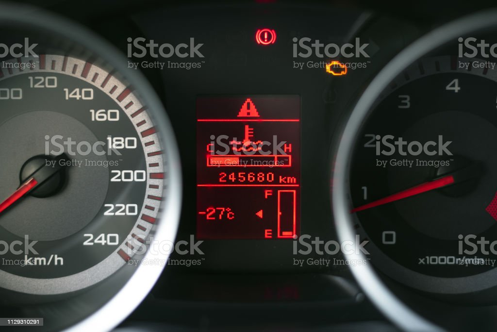 Low level fuel symbol on a car dashboard. Need a fueling concept...