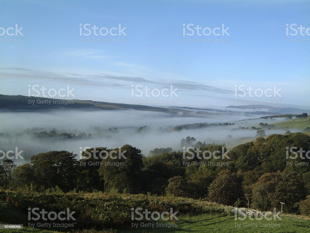 low mist morning royalty-free stock photo