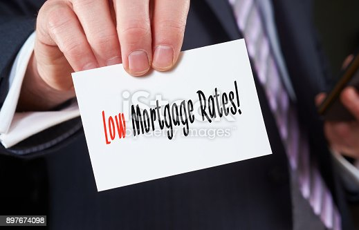 istock Low Mortgage Rates concept 897674098