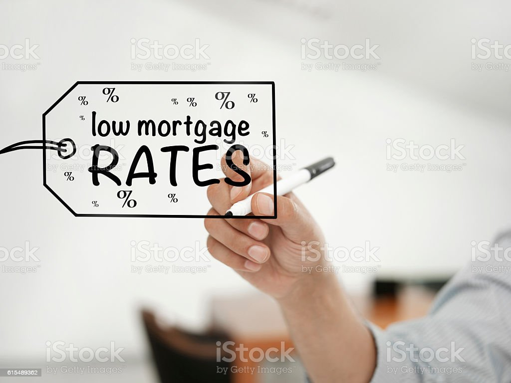 Low mortgage rates stock photo